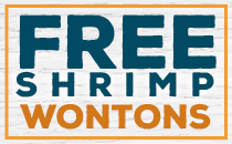 National Seafood Month - Free Shrimp Wontons.