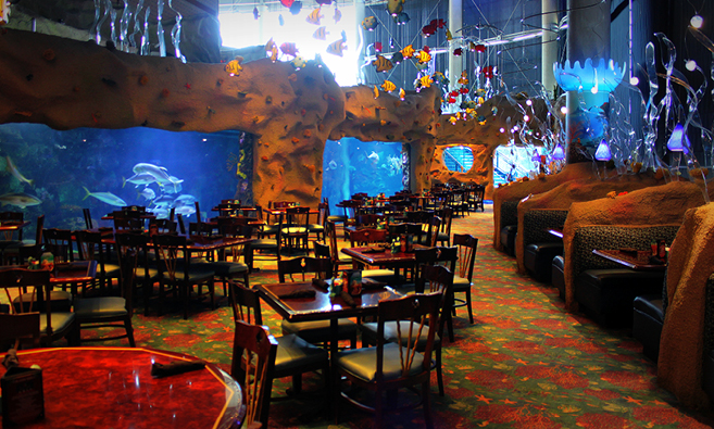 Aquarium Dining Room