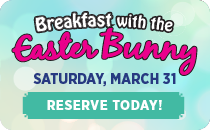 Breakfast with the Easter Bunny on March 31. Click to view details.