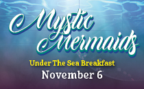 Mystic Mermaid Under the Sea Breakfast Features Live Mermaid shows