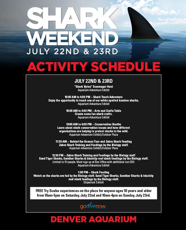 Shark Weekend. July 22nd & 23rd.