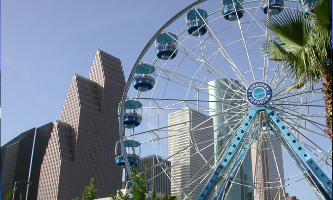 Downtown Aquarium Houston Ferriss Wheel