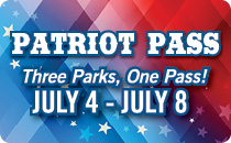 Patriot Pass Three Parks, One Pass! July 4 - July 8 $59.99