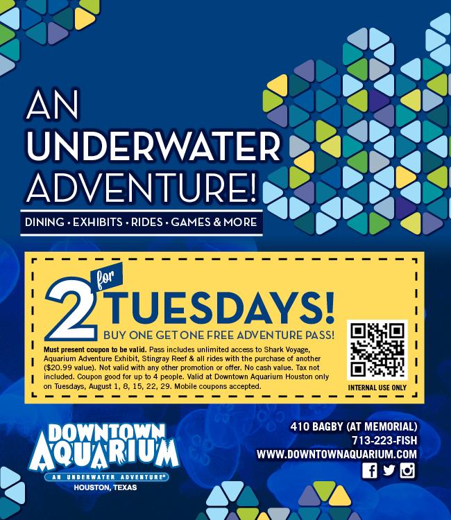Downtown aquarium discount coupons