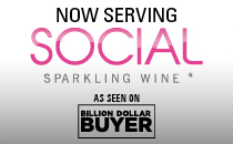 Now Serving SOCIAL Sparling Wine.