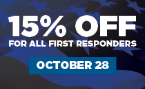 15% oFF First Responders Day