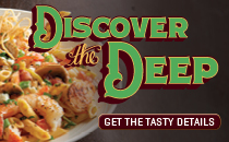 Join the Downtown Aquarium in Denver for an undersea dining experience with a new seasonal  themed menu entitled Discover the Deep. Click to view the menu.